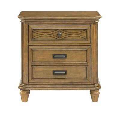 Westgate 3 Drawer Nightstand Finish: Honey