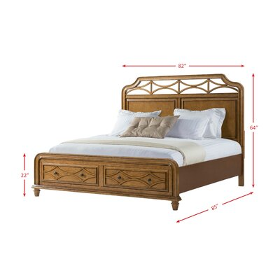Westgate Panel Headboard Color: Honey, Size: King