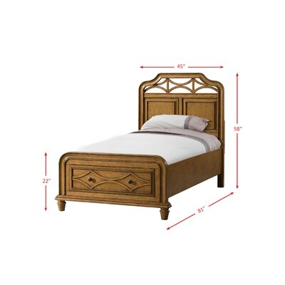Westgate Panel Headboard Finish: Honey, Size: Twin