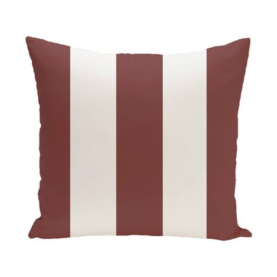Caymen Stripe Print Outdoor Pillow Color: Mahogany, Size: 20 H x 20 W x 1 D
