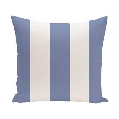 Caymen Stripe Print Outdoor Pillow Size: 18 H x 18 W x 1 D, Color: Cornflower
