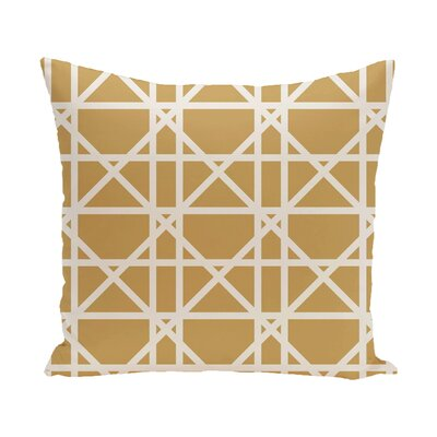 Felles Geometric Print Throw Pillow Size: 18 H x 18 W, Color: Gold