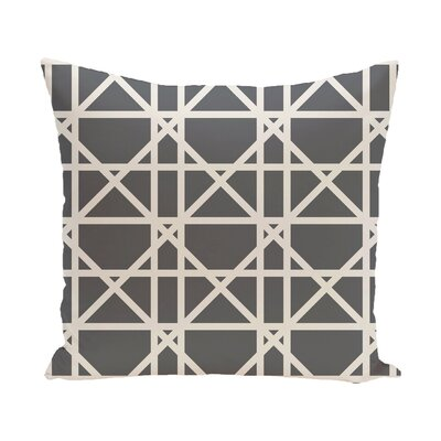 Felles Geometric Print Throw Pillow Size: 18 H x 18 W, Color: Gray