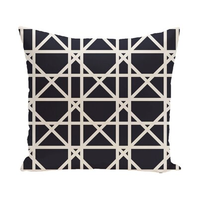 Felles Geometric Print Throw Pillow Color: Navy Blue, Size: 18 H x 18 W