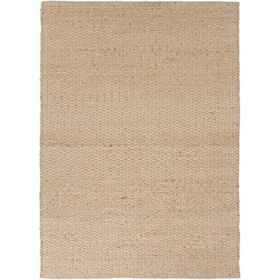 Ascutney Hand-Woven Tan Area Rug Rug Size: 9 x 12