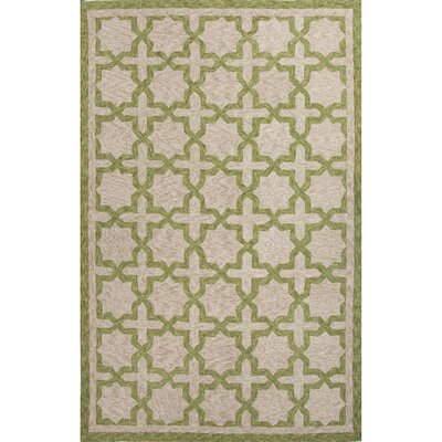 Holland Green / Taupe Moroccan Indoor / Outdoor Area Rug Rug Size: 5 x 76