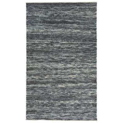Breakwater Bay Norridgewock Hand-Woven Dark Denim/Angel Falls Area Rug