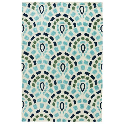 Derry Cloud Cream/Baltic Indoor/Outdoor Area Rug Rug Size: Rectangle 5 x 76