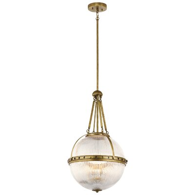 Goslee 3-Light Globe Pendant Finish: Natural Brass