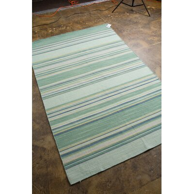 Swans Island Blue Stripe Area Rug Rug Size: Rectangle 9 x 12