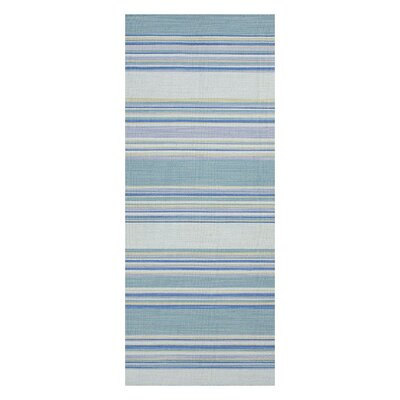 Swans Island Blue Stripe Area Rug Rug Size: Runner 26 x 8