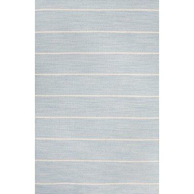 Swans Island Blue/Ivory Stripe Area Rug Rug Size: 2 x 3