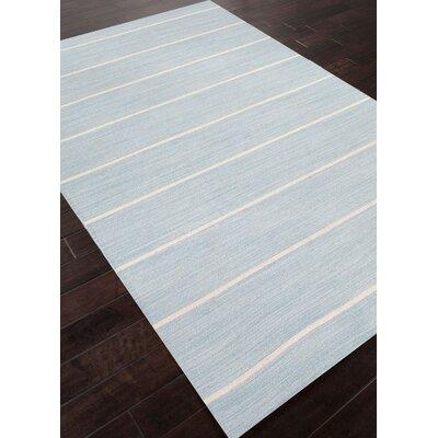 Swans Island Blue/Ivory Stripe Area Rug Rug Size: 9 x 12