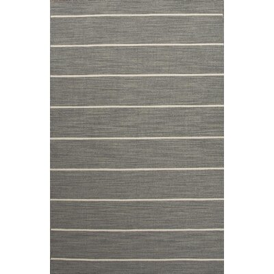 Swans Island Gray/Ivory Stripe Area Rug Rug Size: Rectangle 10 x 14