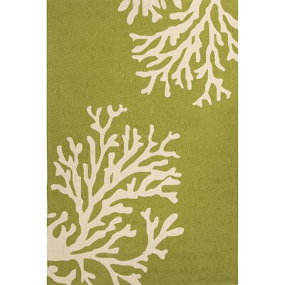 Exeter Green/Ivory Indoor/Outdoor Area Rug Rug Size: 36 x 56