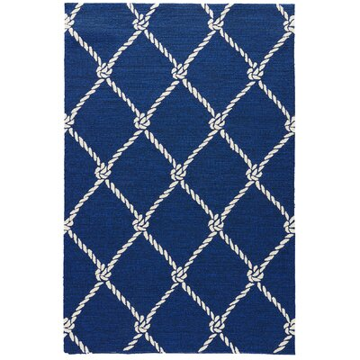 Sandtown Estate Blue Indoor/Outdoor Area Rug Rug Size: 5 x 76