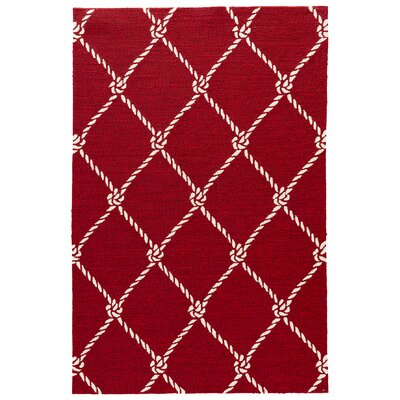 Sandtown Rio Red Indoor/Outdoor Area Rug Rug Size: Rectangle 76 x 96