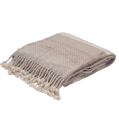 Sussex Shores Wool Throw Color: Grey / Taupe