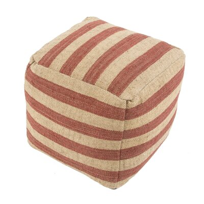 Thornton Pouf Upholstery: Red