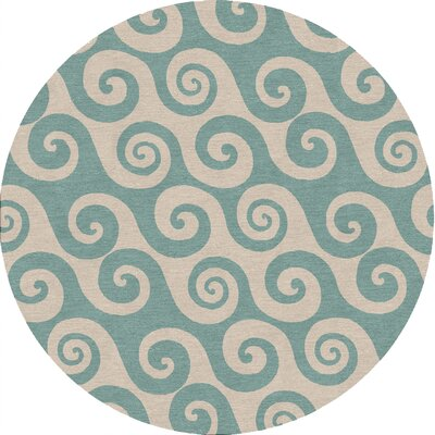 Hillcrest Heights Blue Coastal Rug Rug Size: Round 8