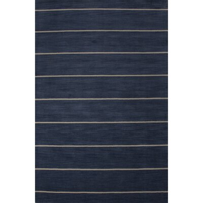 Sand Hill Wool Hand Tufted Blue Area Rug Rug Size: 5 x 8