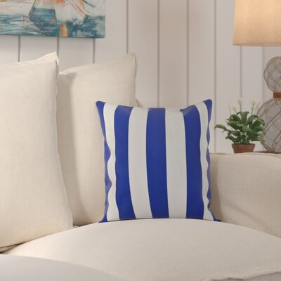 Ivy Decorative Polyester Throw Pillow Size: 16 H x 16 W, Color: Dazzling Blue