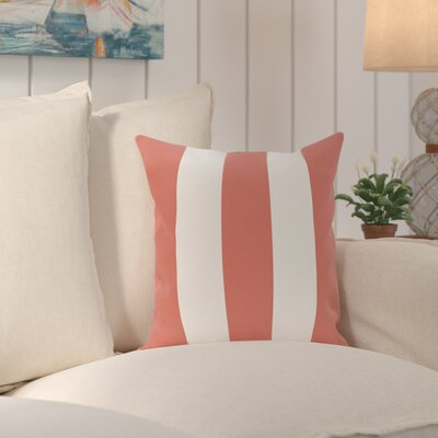 Caymen Stripe Print Throw Pillow Size: 18 H x 18 W x 1 D, Color: Seed