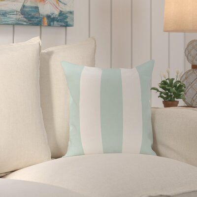 Caymen Stripe Print Throw Pillow Size: 26 H x 26 W x 1 D, Color: Seaside