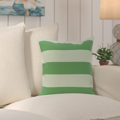 Caymen Stripes Print Outdoor Pillow Size: 18 H x 18 W x 1 D, Color: Leaf Green