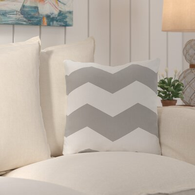 Shrewsbury Chevron Stripes Geometric Outdoor Throw Pillow Size: 20, Color: Gray