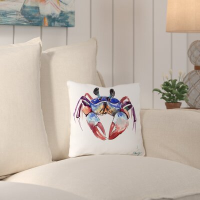 Lancashire Crab Throw Pillow Size: 14 H x 14 W x 2 D