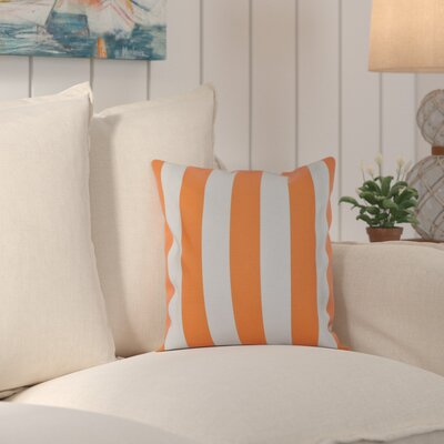 Ivy Decorative Polyester Throw Pillow Color: Celosia Orange, Size: 18 H x 18 W