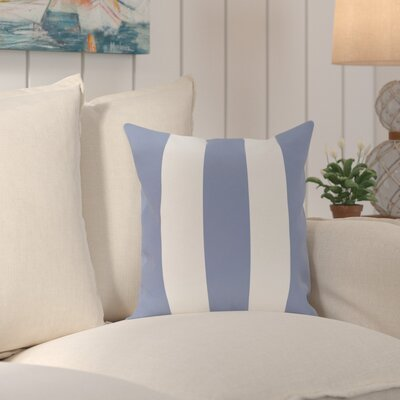 Caymen Stripe Print Throw Pillow Size: 16 H x 16 W x 1 D, Color: Cornflower