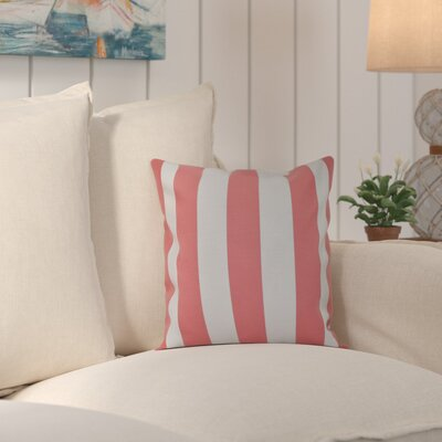 Ivy Decorative Polyester Throw Pillow Size: 16 H x 16 W, Color: Pink