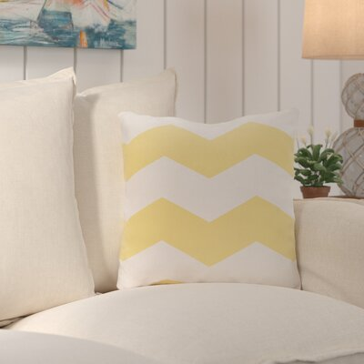 Shrewsbury Chevron Stripes Geometric Outdoor Throw Pillow Size: 20, Color: Lemon