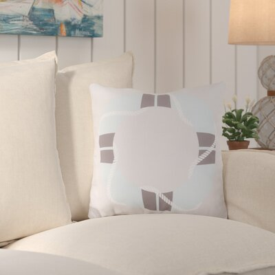 Sweetwood Lovely Life Raft Outdoor Throw Pillow Size: 18 H x 18 W x 4 D, Color: Sky Blue/Gray