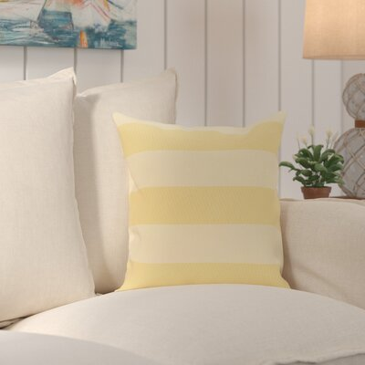 Caymen Outdoor Throw Pillow Color: Lemon, Size: 18 H x 18 W x 1 D