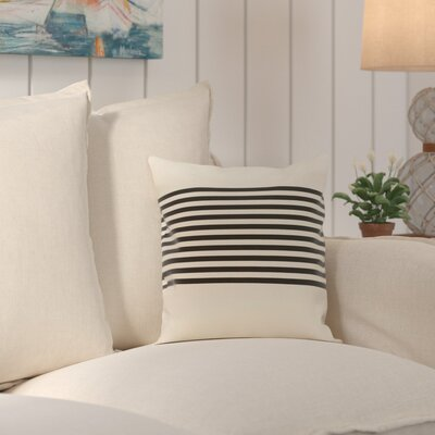 Pea Ridge Throw Pillow Size: 18 H x 18 W, Color: Ivory / Black