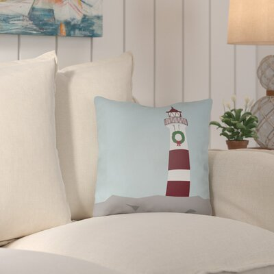 Carsdale Holiday Cove Indoor/outdoor Throw Pillow Size: 16