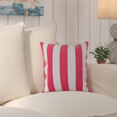 Ivy Decorative Polyester Throw Pillow Size: 18 H x 18 W, Color: Fuchsia