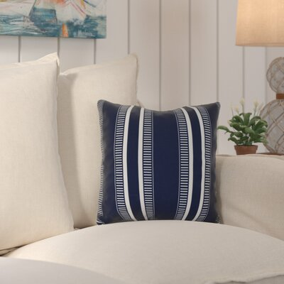 Lindale Outdoor Throw Pillow Color: Navy Blue, Size: 20 H x 20 W x 3 D
