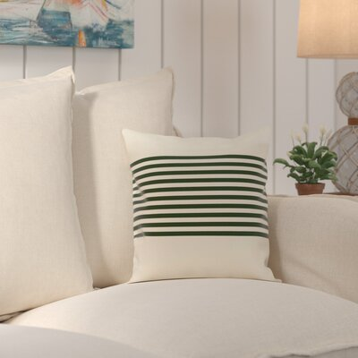 Pea Ridge Throw Pillow Size: 20 H x 20 W, Color: Ivory / Dark Green