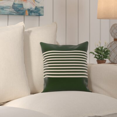 Pea Ridge Throw Pillow Size: 18 H x 18 W, Color: Dark Green / Ivory