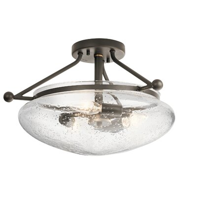 Edgemoor 3-Light Semi Flush Mount Finish: Olde Bronze