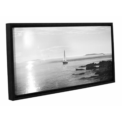 'Evening Sail Crop' by Sue Schlabach Framed Photographic Print in Black/White