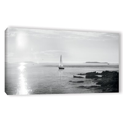 'Evening Sail Crop' by Sue Schlabach Photographic Print on Wrapped Canvas in Black/White