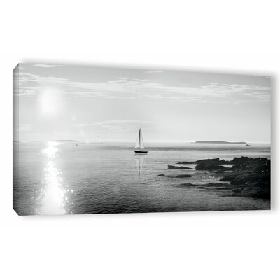 'Evening Sail' by Sue Schlabach Photographic Print on Wrapped Canvas in Black/White