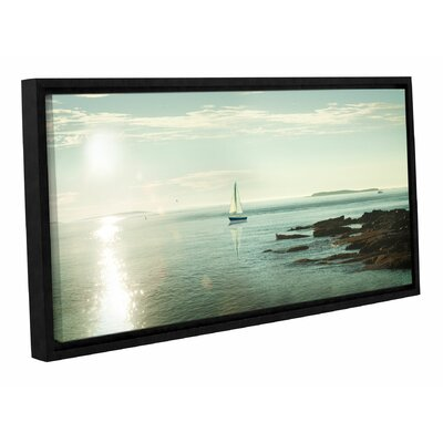 'Evening Sail' by Sue Schlabach Framed Photographic Print in Blue/Beige
