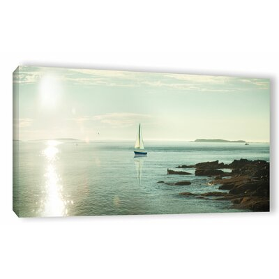 'Evening Sail Crop' by Sue Schlabach Photographic Print on Wrapped Canvas in Blue/Beige