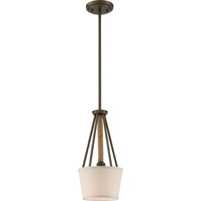 Bellvue 1-Light Mini Pendant Finish: Mahogany Bronze